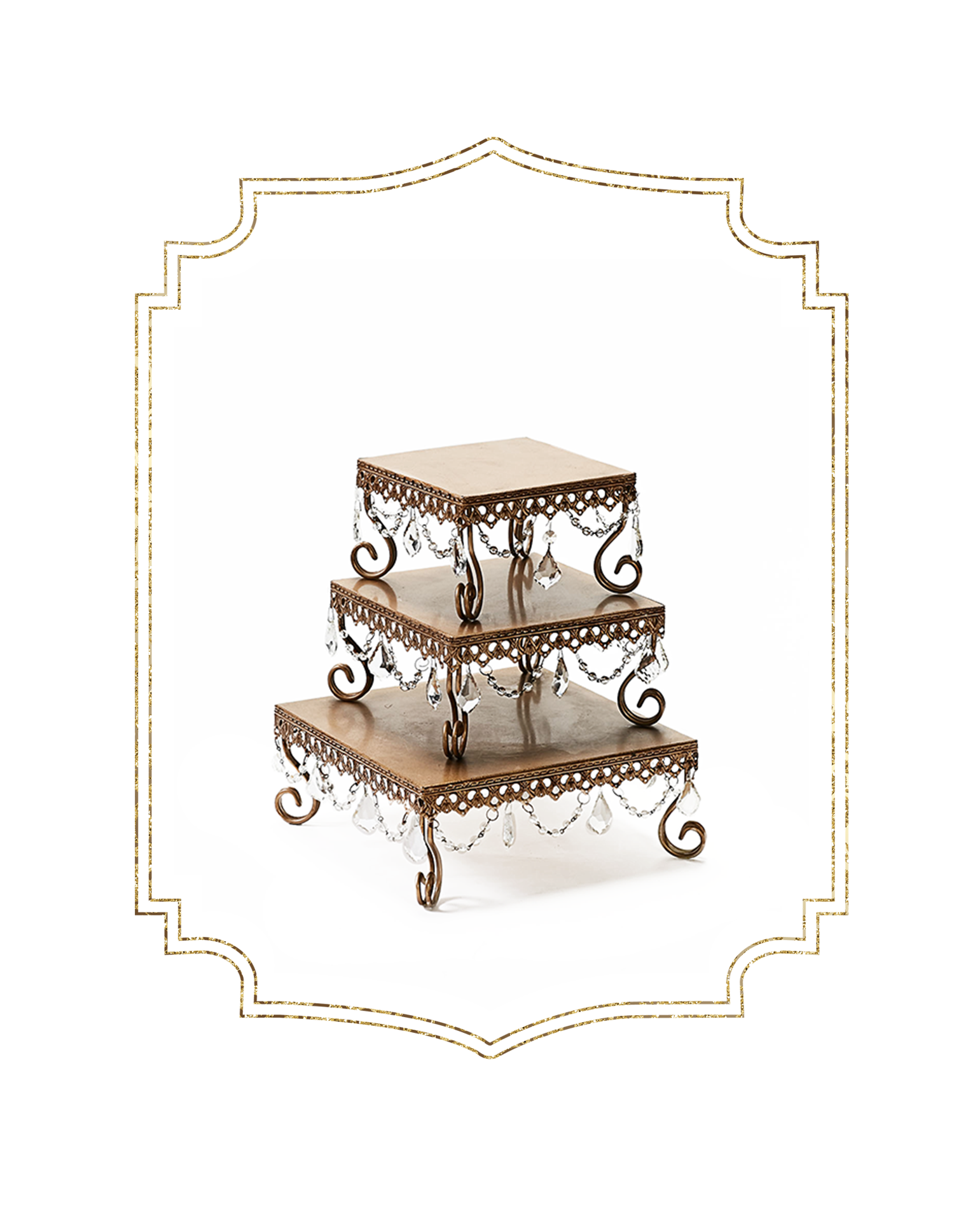 SHOP-preview ANTIQUE GOLD chandelier square loopy cake stands.png