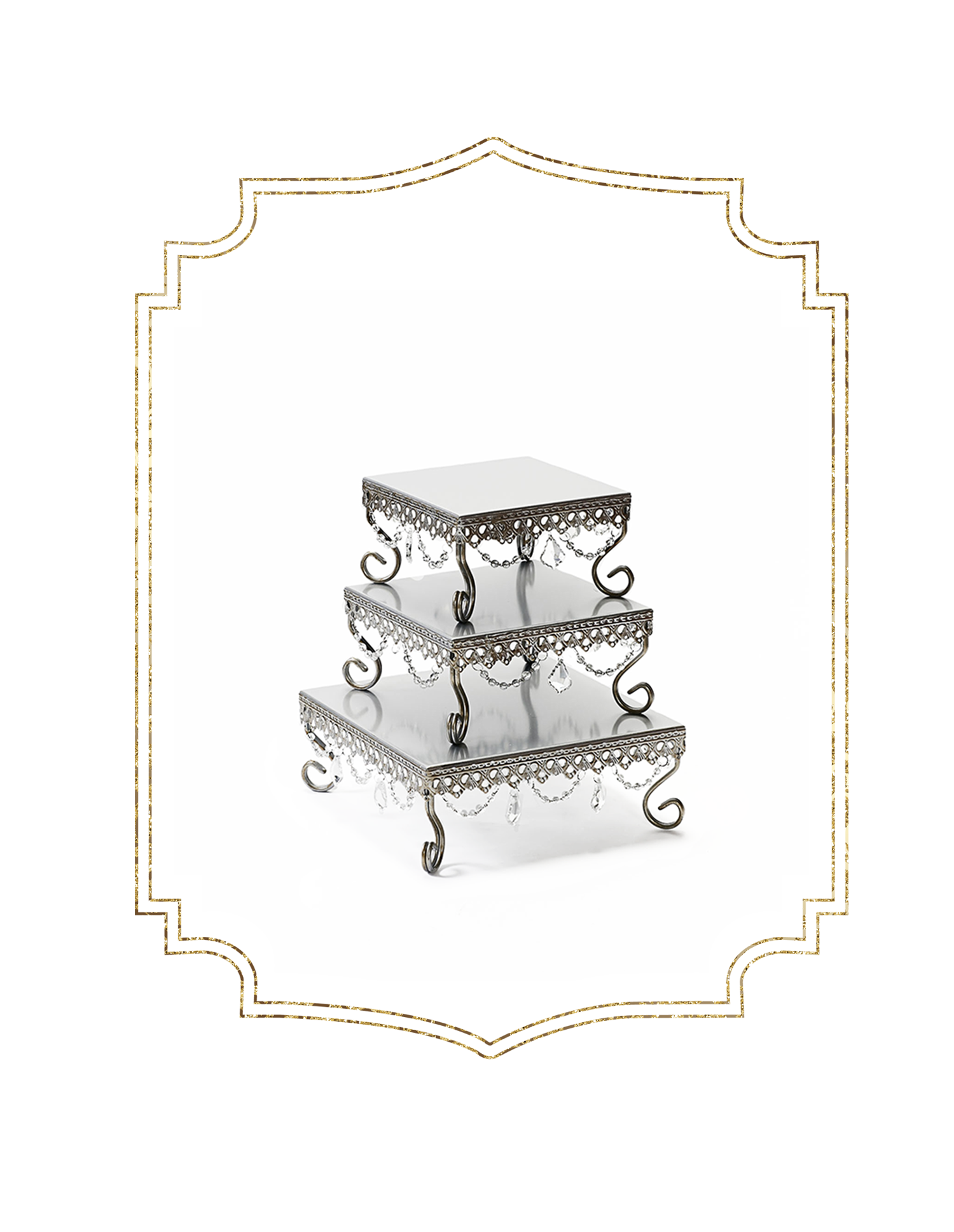 SHOP-preview ANTIQUE SILVER chandelier square loopy cake stand.png