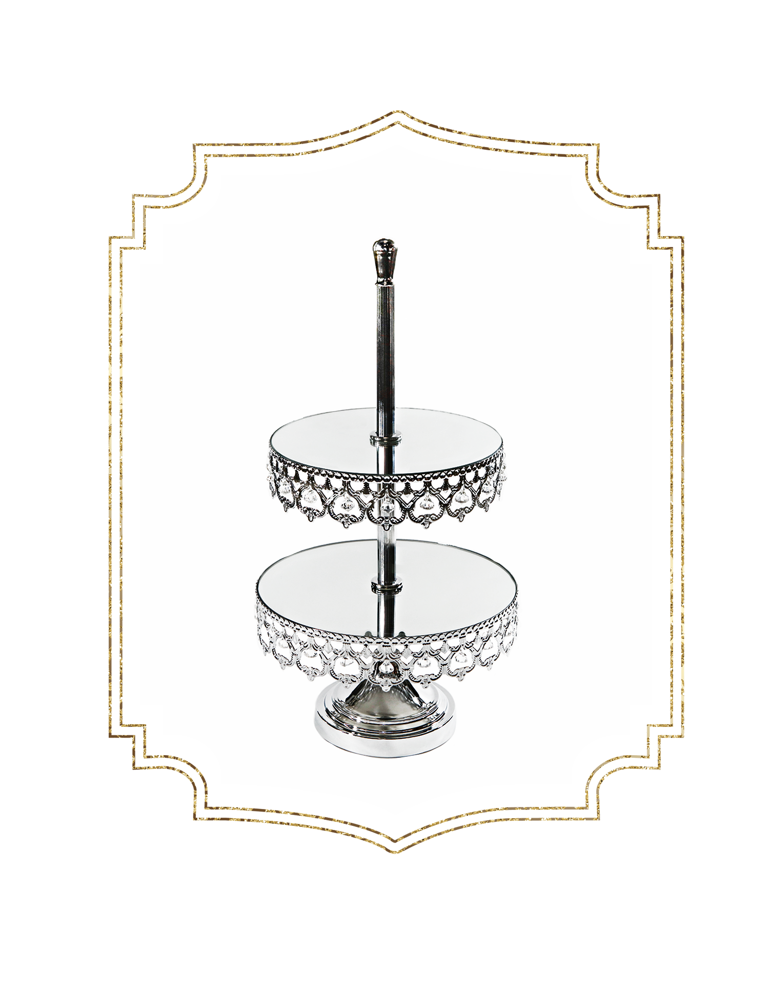 SHOP-preview SHINY SILVER Crown 2 tier dessert stand.png