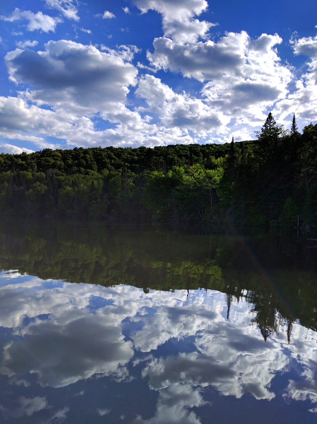 A typical view on the lake