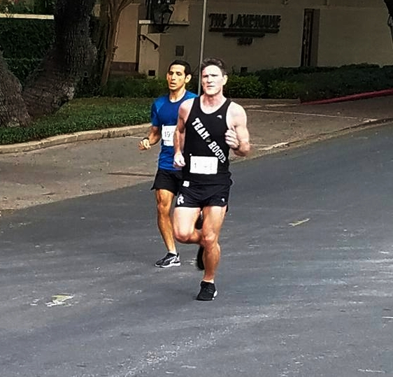 Mark Heerensperger    I coach:    True Grit   in Cedar Park   Background:  I started running 10 years ago when I quit smoking and now have completed 14 marathons, with a PR of 2:44.00 in Houston 2016.   Years Coaching & Philosophy:  3 Yrs; Running is more fun with friends. Join us!   Best advice for new Rogues:  Believe in your training.   Most memorable run/race:  My first Boston in 2013.   Interesting fact:  I still think I am a basketball player.