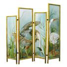 Courting Great Ibis & Blue Heron - acrylic on wood, jatoba frame - SOLD