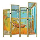 Islands - acrylic on wood, bamboo frame - SOLD