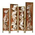 Walk on the Beach - acrylic on wood, bamboo frame - SOLD