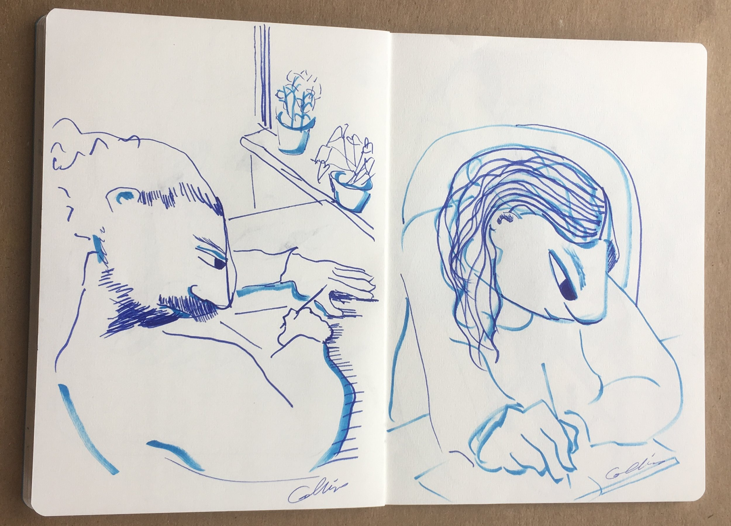 "Page from ""Blue Sketchbook"""