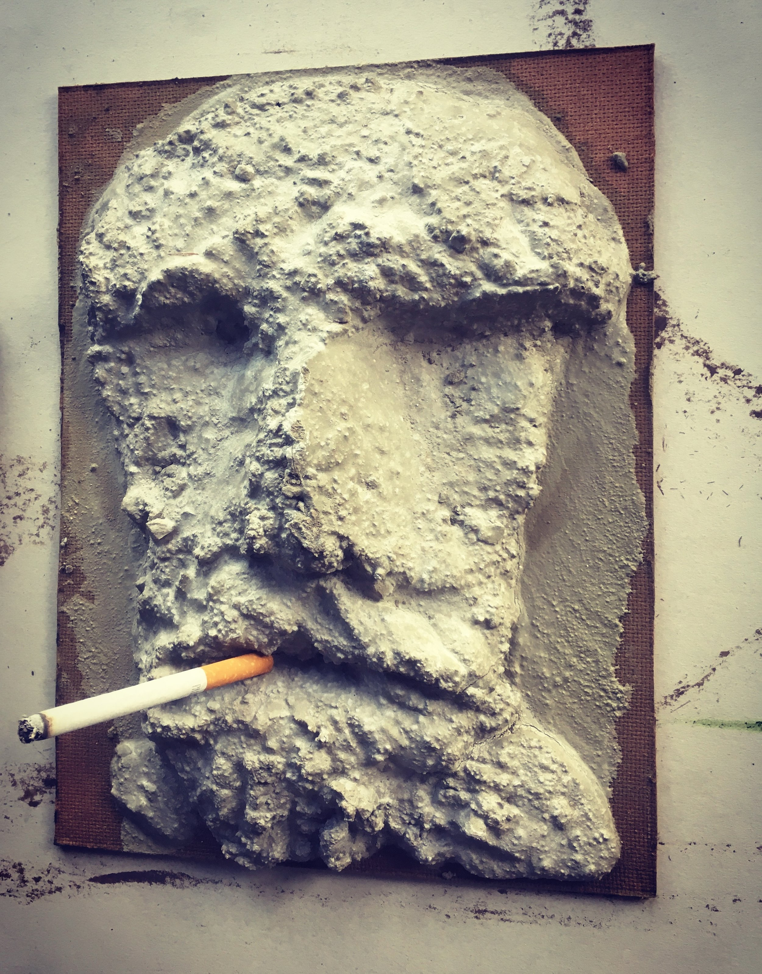 Aggregate (with lit cigarette)