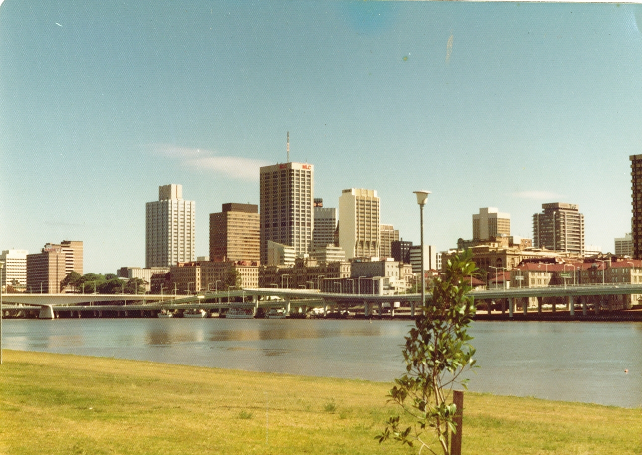 Brisbane, as I always think of it. Slightly yellowed, slightly 1980.