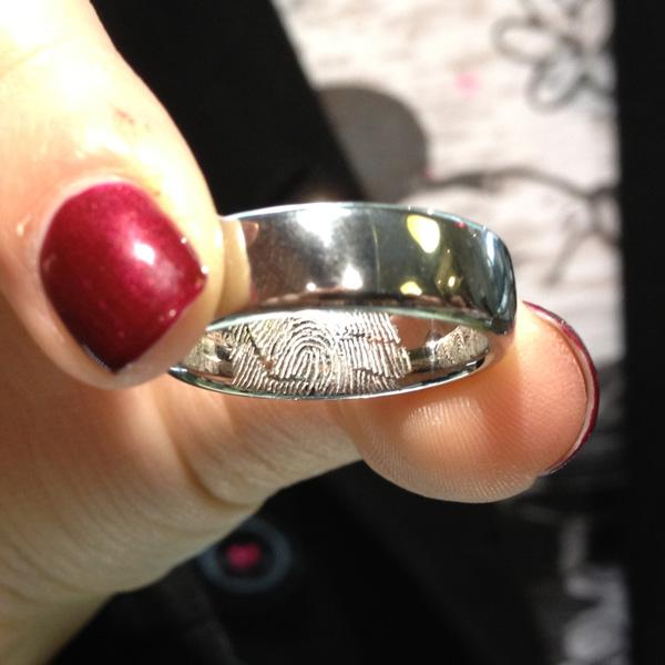 fingerprint engagement ring