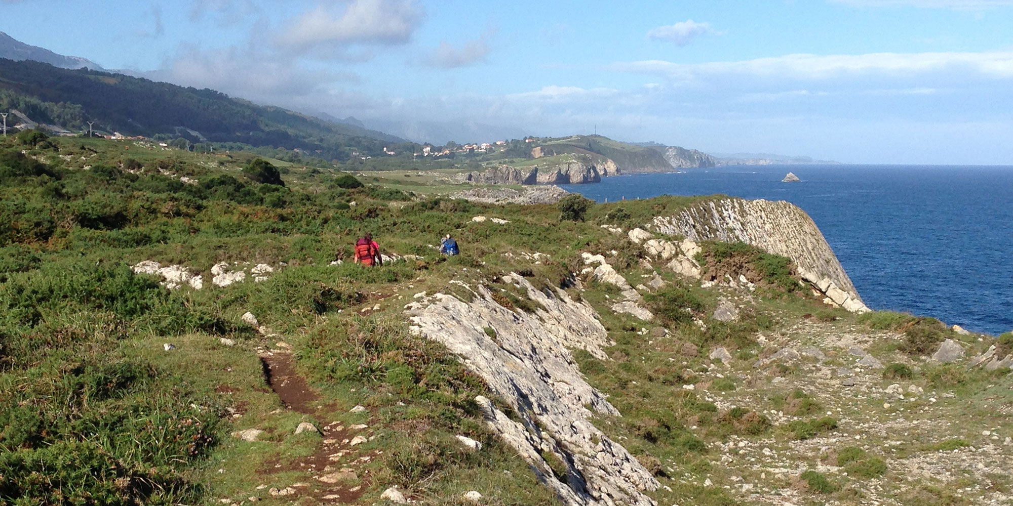 Walking the Camino del Norte on the Cantabrian Sea near Castro Urdiales, Spain, September 2015.