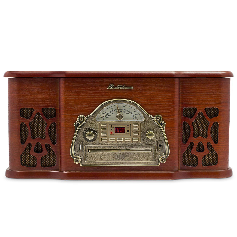 Electrohome Wellington Record Player Retro Vinyl Turntable Best turntable under $200