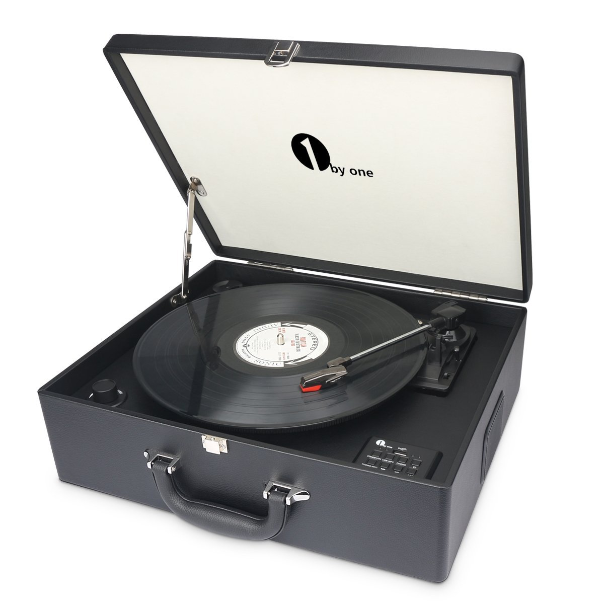 1byone Suit-case Style Turntable with Speaker Best Turntable under $200