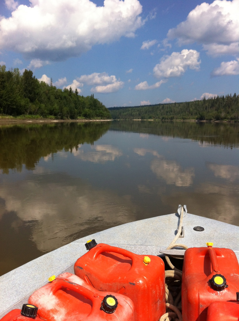 Athabasca River, upstream of Grand Rapids, AB