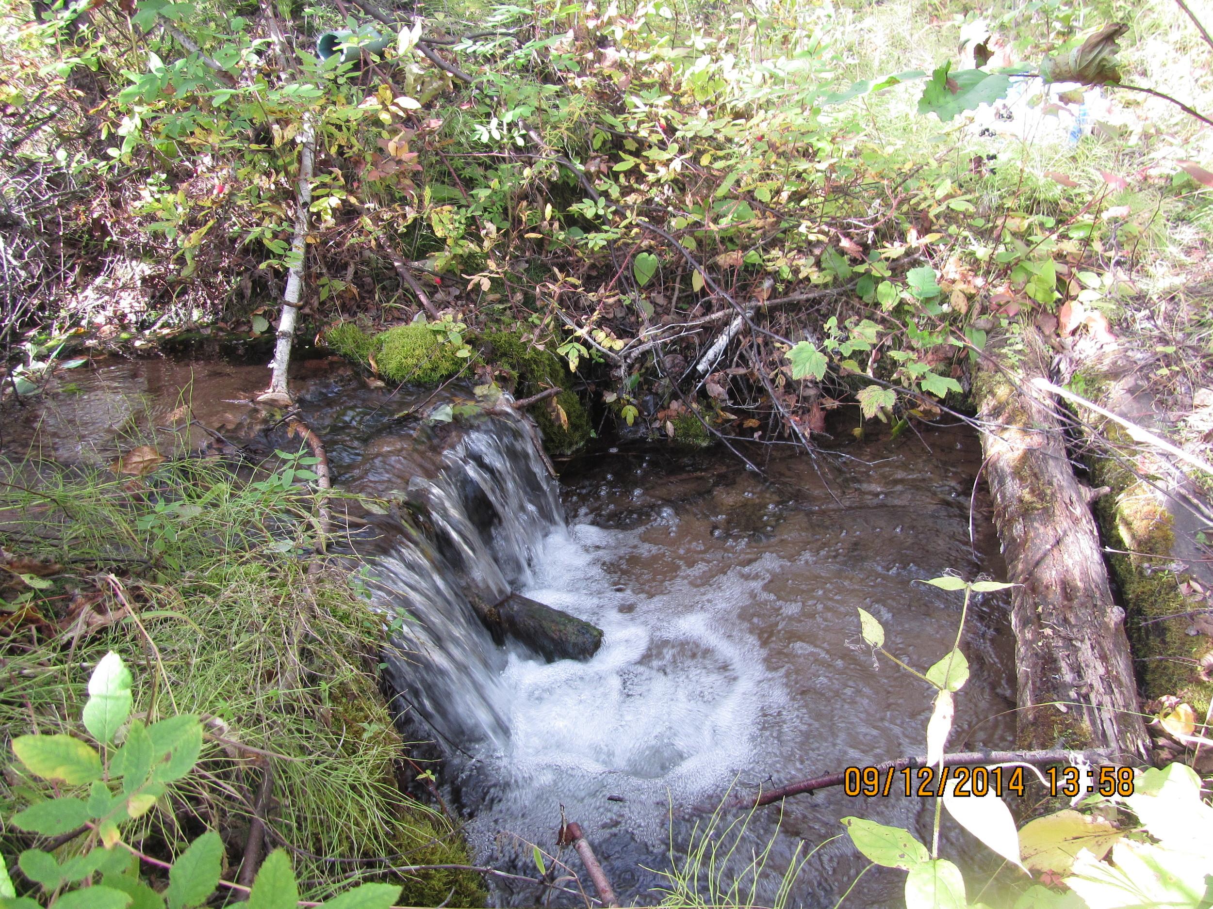 Fresh drinking water, Hermansen trapline, AB