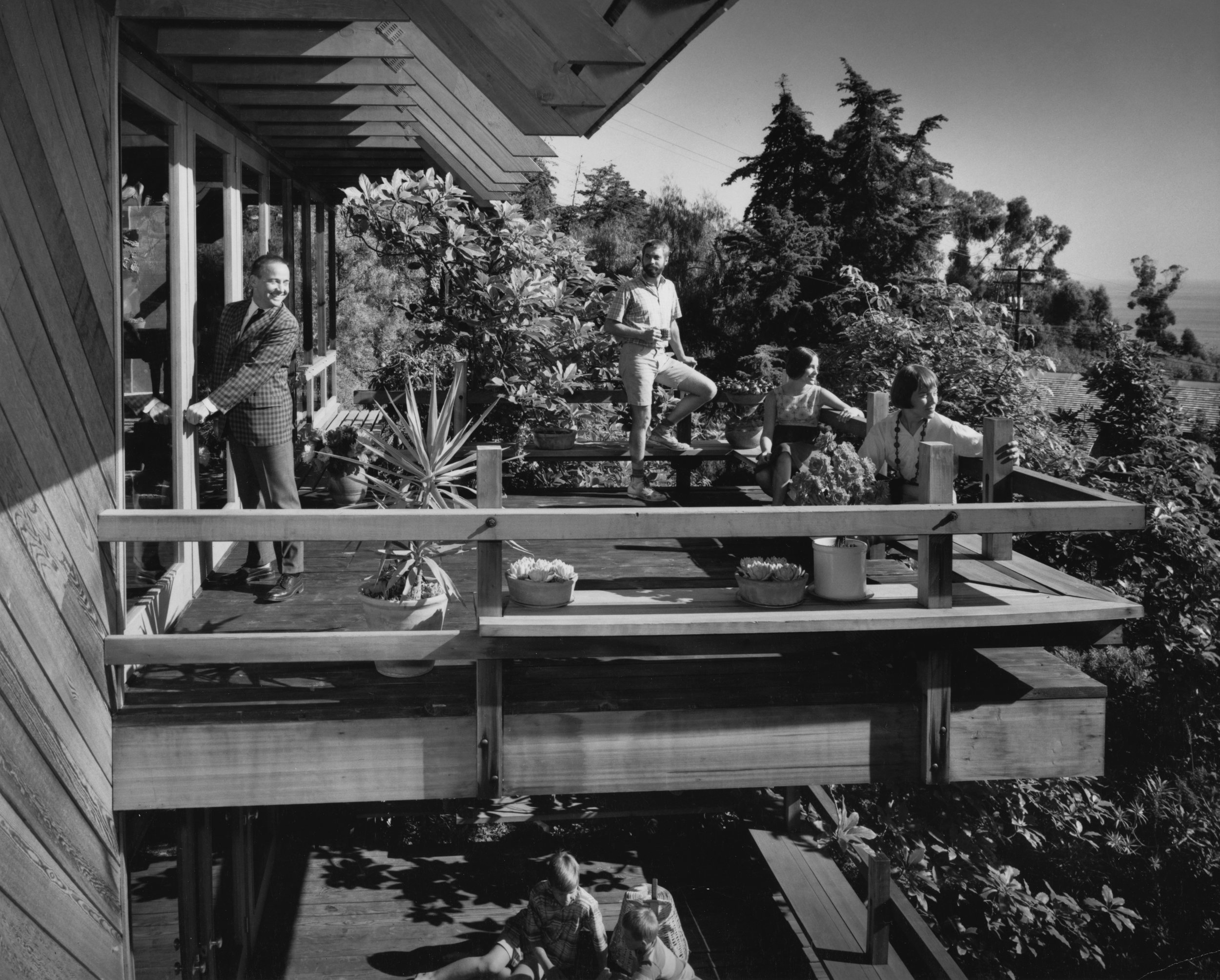 This photo is of Lamont and our family at the Diamond Street House was taken by Julius Shulman.
