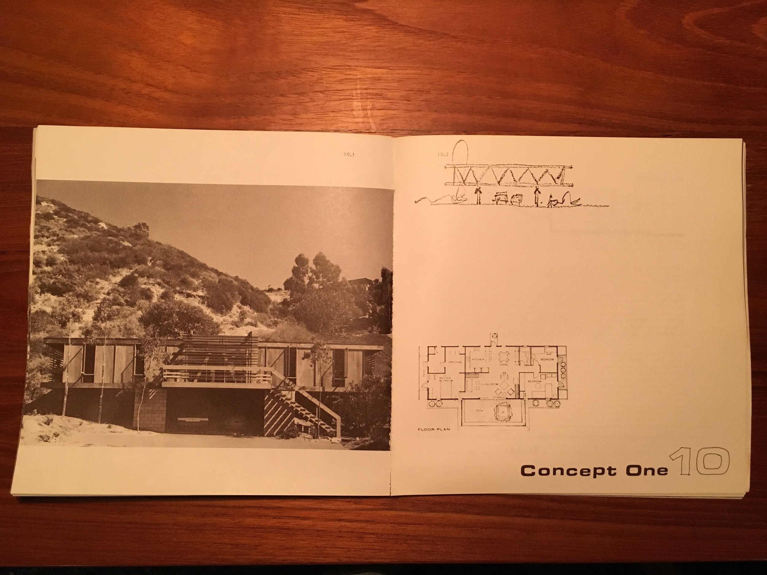 The Bridge House paved the way for the Concept House. This was a prefabricated house that Lamont and my Dad came up with. This is the first one going in at the bottom of Park Avenue in Laguna Beach. My Dad built this one on speculation just like he had the Bridge House. It was completed in 1968.