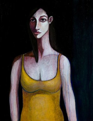 Woman in Yellow Suit, 2009, acrylic on canvas