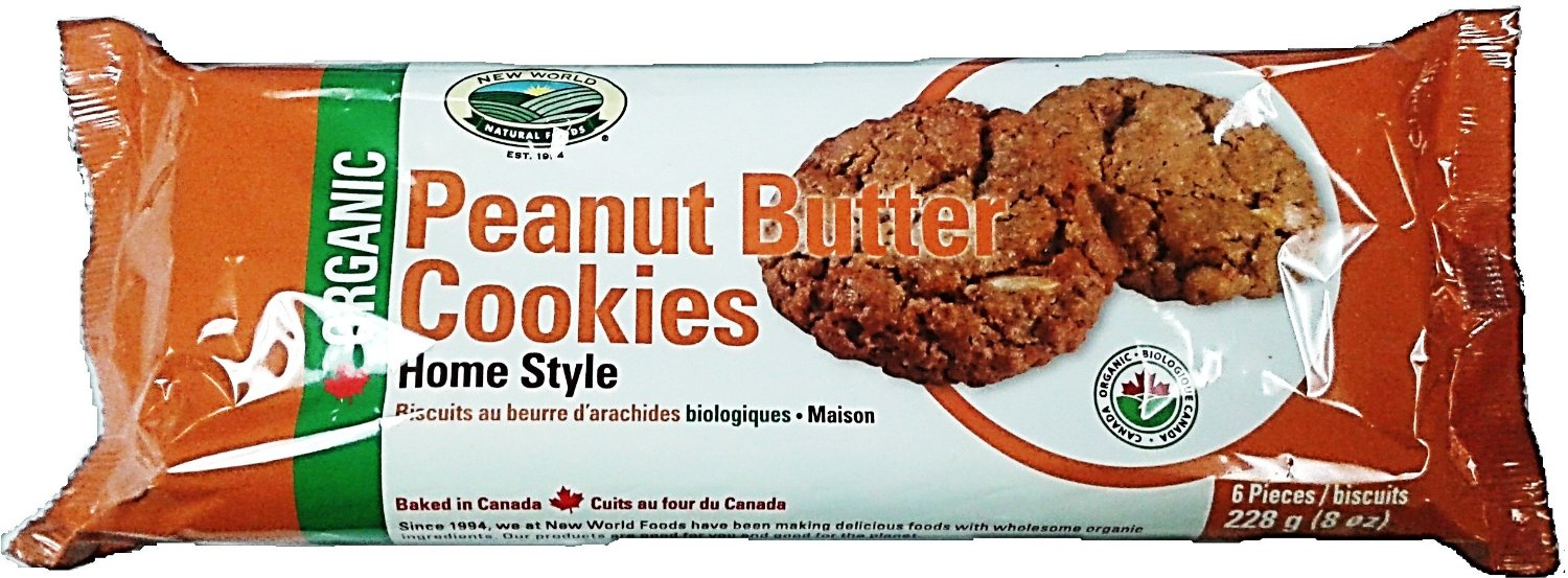 New World Foods Organic Peanut Butter Cookies
