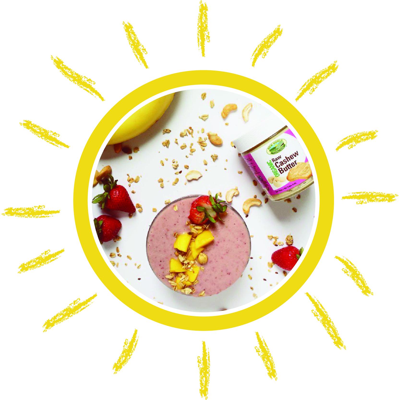 vegan strawberry smoothie bowl