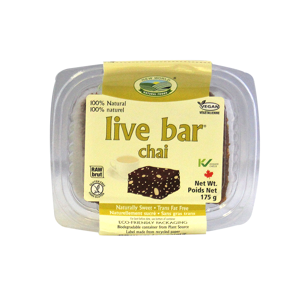 New World Foods Organic Chai Live Bar