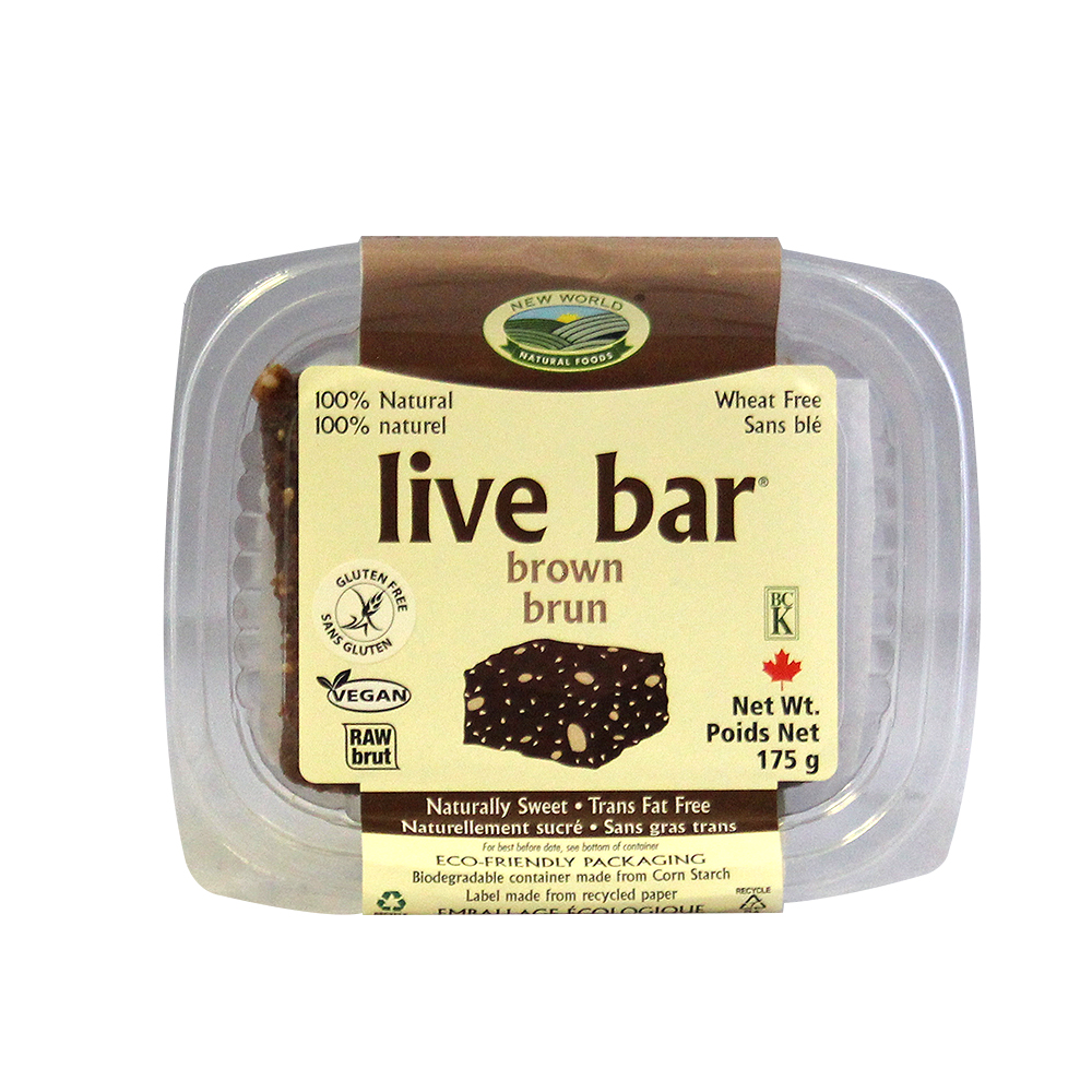 New World Foods Organic Brown Live Bar