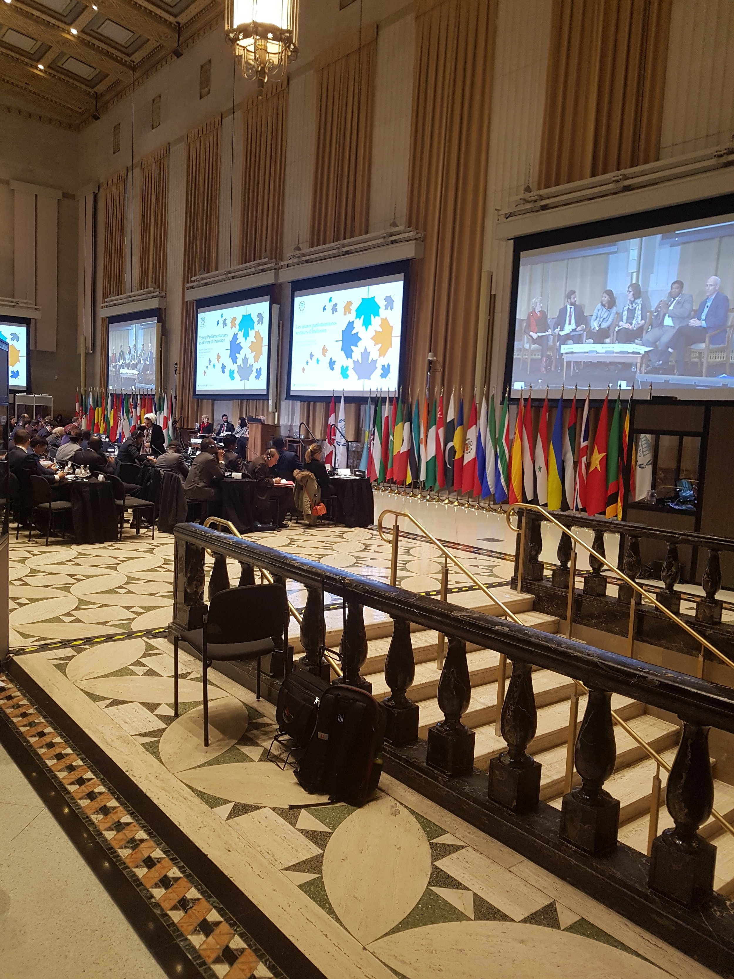 The hall of the the Fourth Global Conference of Young Parliamentarians entitled Young parliamentarians as drivers of inclusion that took place in Ottawa, Canada, on 17 and 18 November 2017.