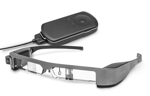 A closer look at the Epson BT-300 head-mounted display which is compatible with Dino-Lite microscopes.