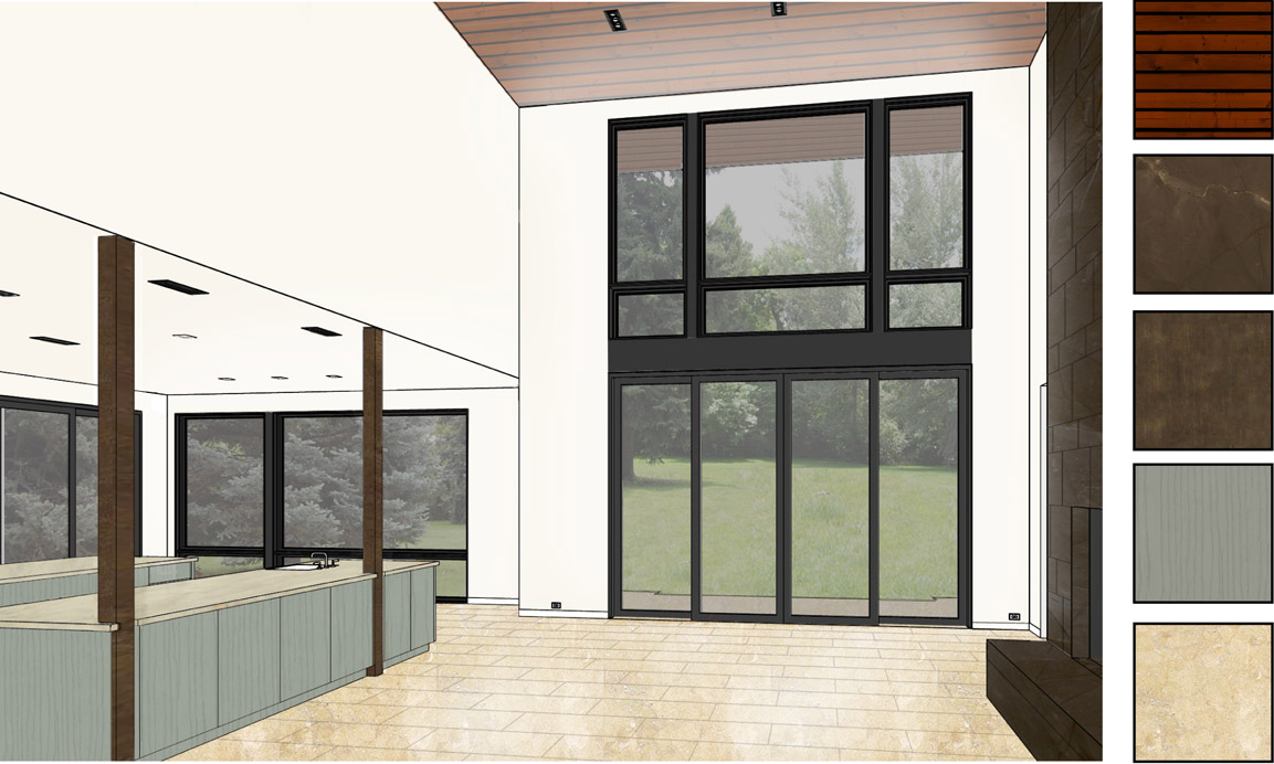 Interior renderings and perspective images can help understand the play of materials, lighting, scale, and the relationship between interior and exterior spaces .