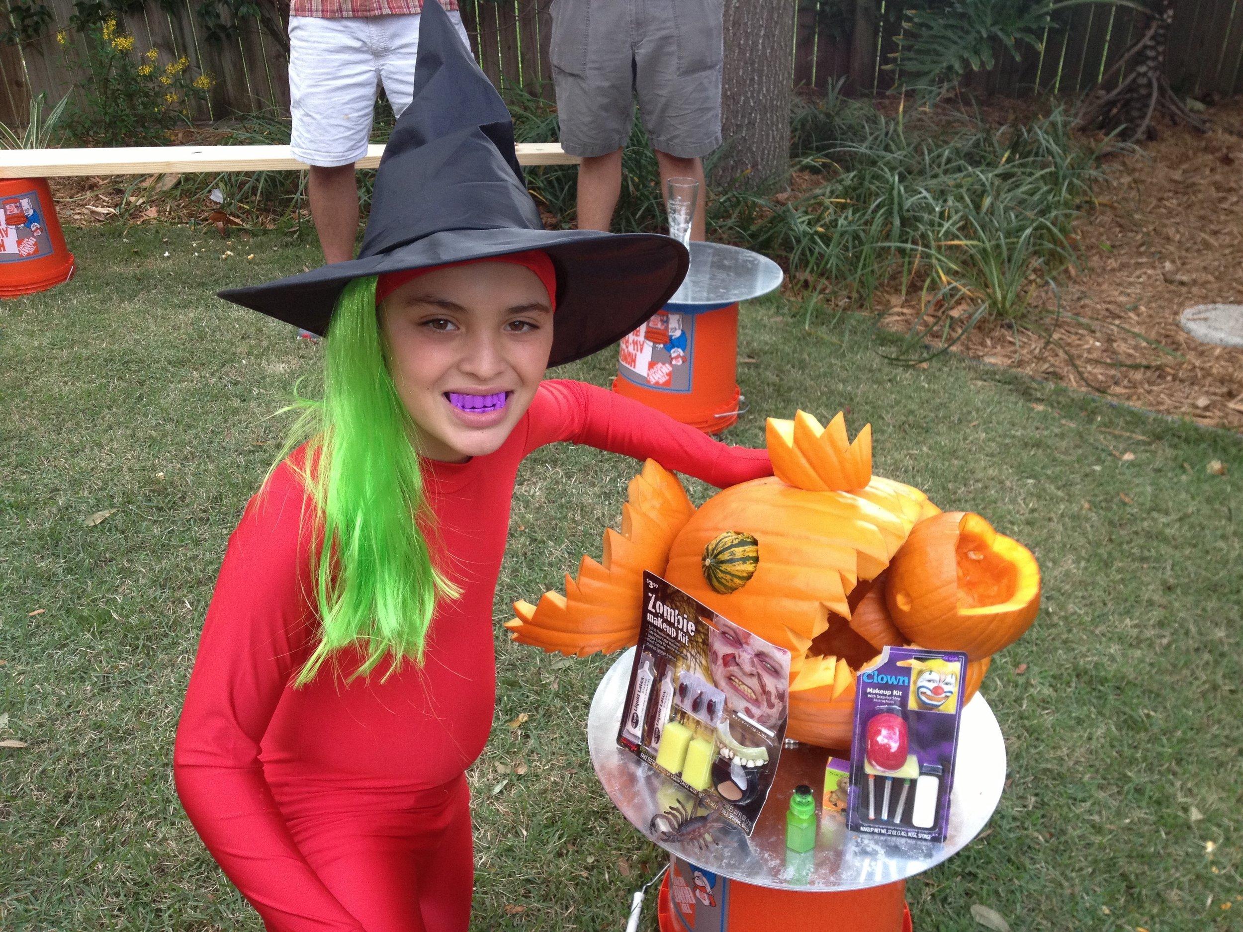 My nephew celebrating Halloween
