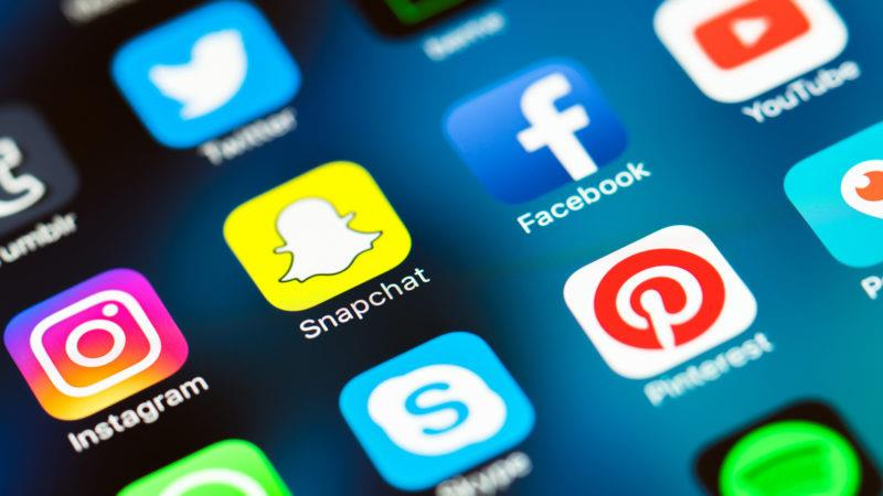 A sample of the myriad social media applications offered today. In recent years, social media usage has surged leading to both positive and negative consequences. Photo from marketingland.com.