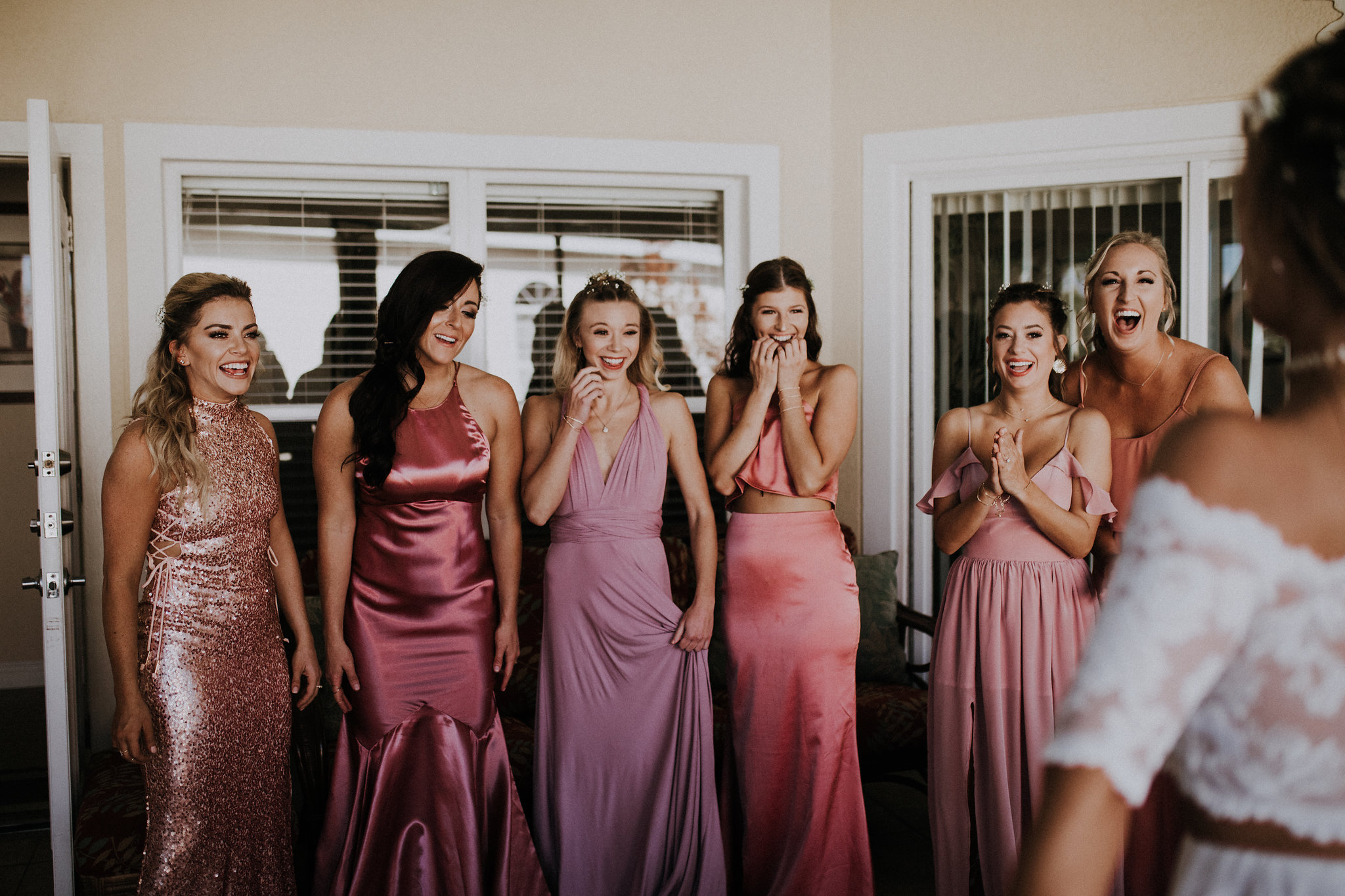 no big deal, just the sweetest bridesmaids first look.