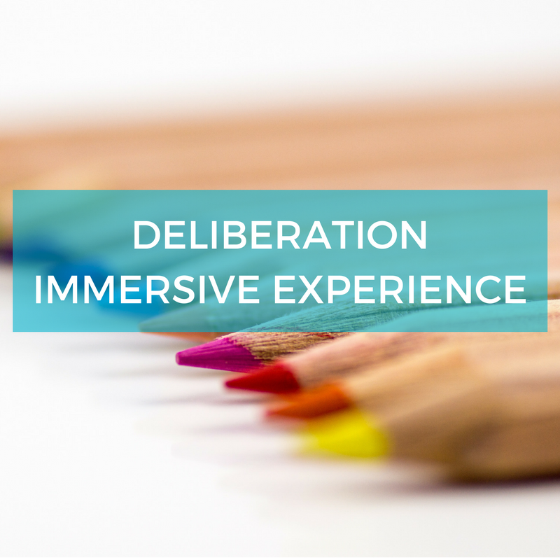 Immersive deliberation experience - engagement training