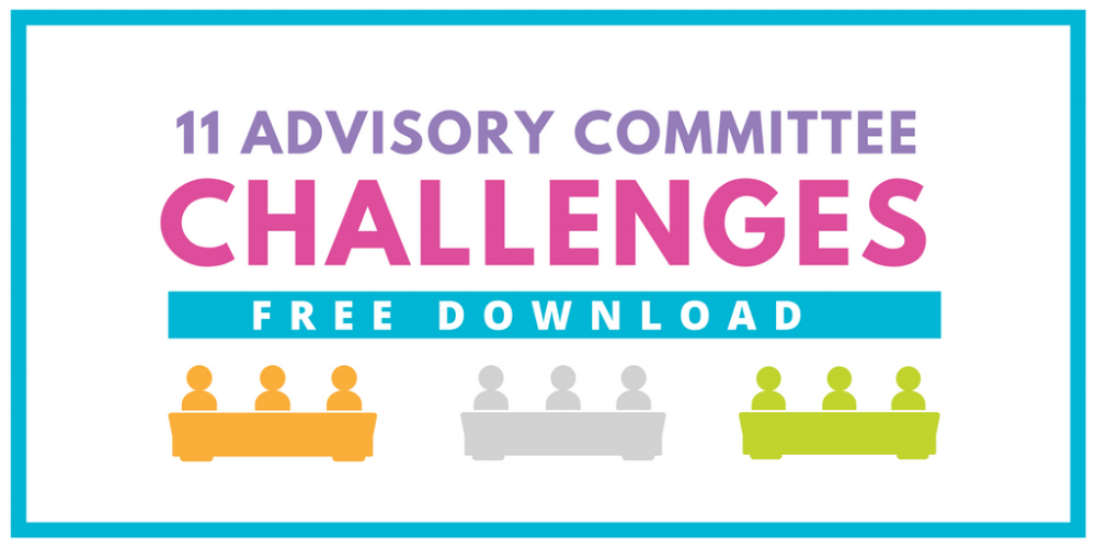 Free Resource - Tips for Challenges with Advisory Committees and Stakeholder Groups