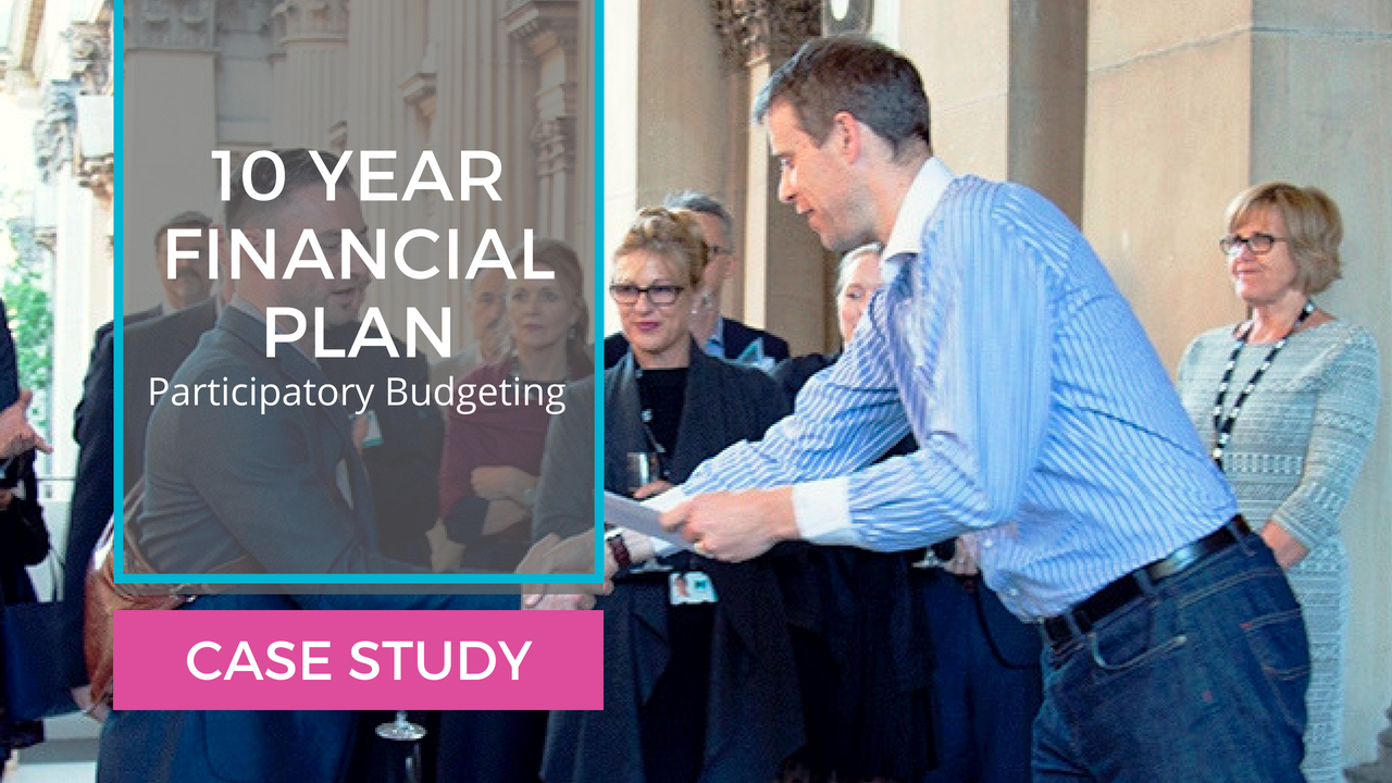 Case Study: 10 Year Financial Plan Melbourne Participatory Budgeting facilitators