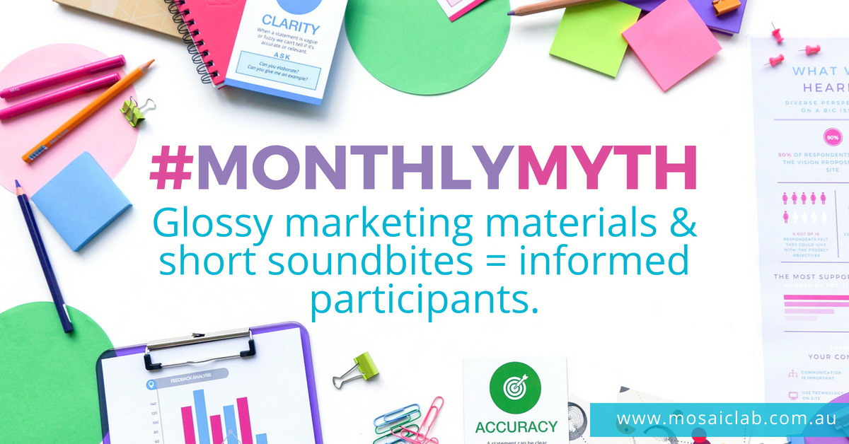 #MonthlyMyth - Informed participants - Engagement