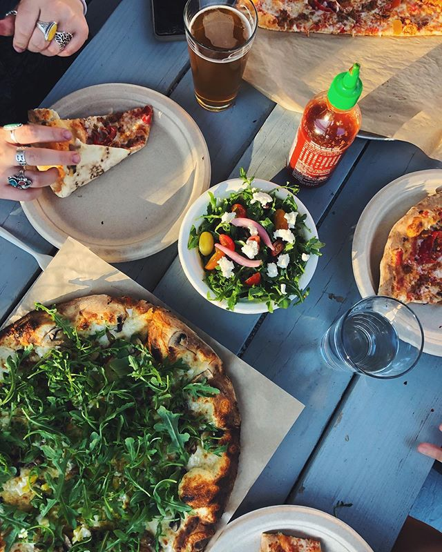 My record for longest time not eating pizza is 6 days #cheers #pizzapost #pizza #iloveyou #foodie #vsco #VSCOcam #arugula #alfresco