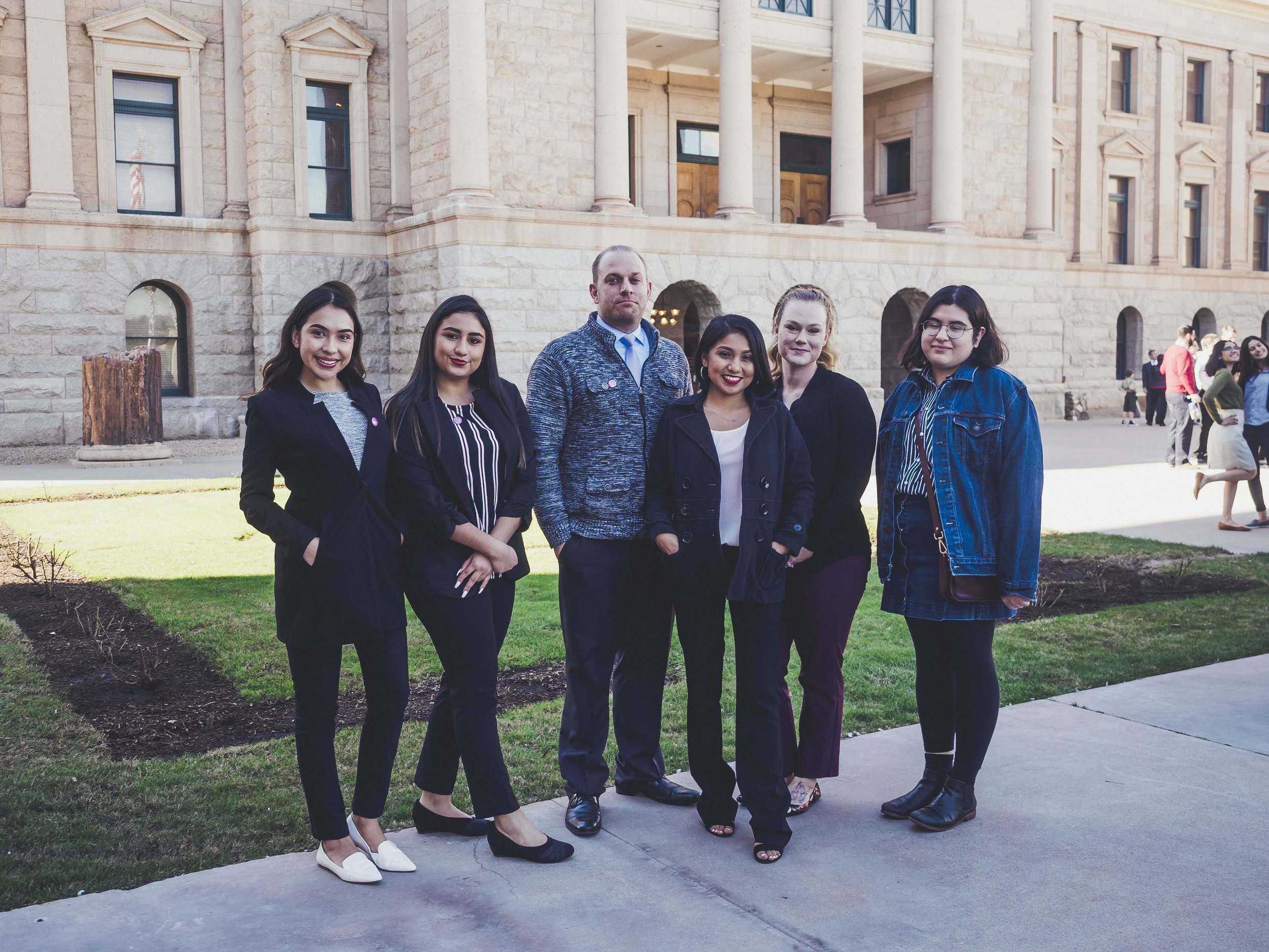 Angélica and her team at Arizona Capitol for Education Day