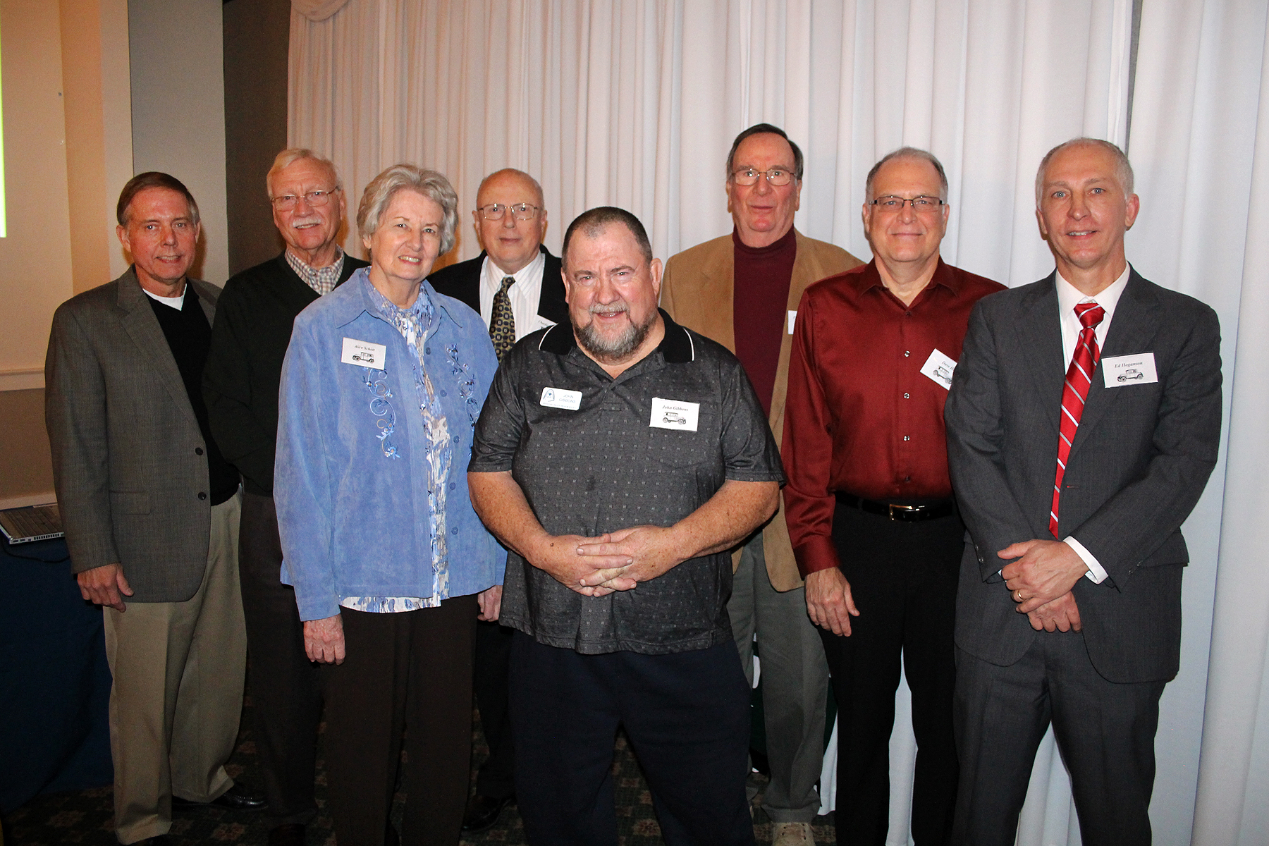 2016 board: Greg Piel, Tom Holtgrave, Alice Schott, Charlie Henerey, John Gibbons, Fred Burk, Dave Hitt (not pictured is Mike Rowles)