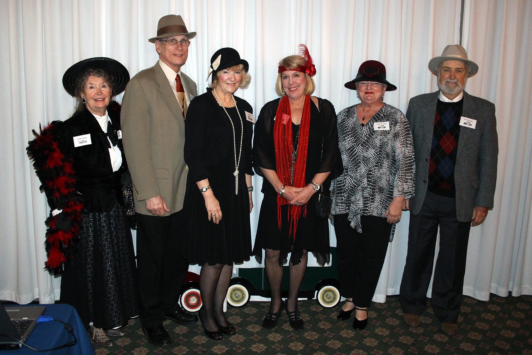 Era fashionistas: Myrna Schild, Gene Roehl, Jane Roehl, Nancy Yates, Peggy McCallie and Don McCallie