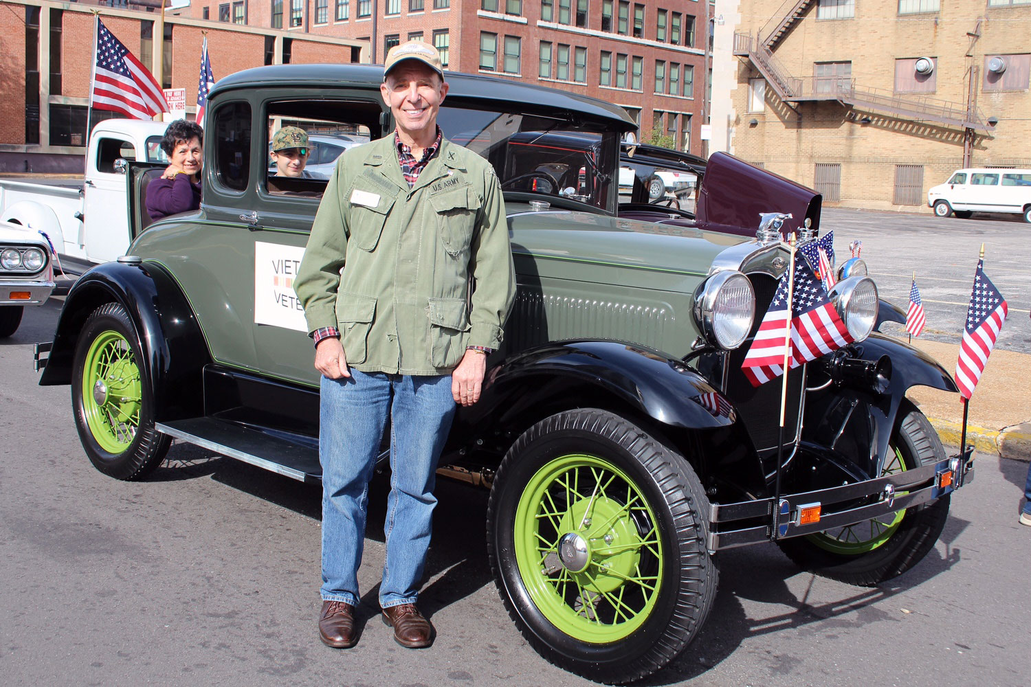 Vietnam Vet Doug Brockhaus with his '31 Coupe