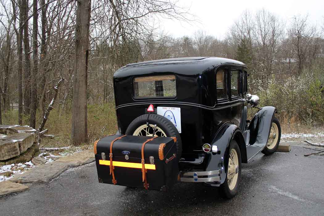 Bert and Alice's sedan makes all Model A tours, come rain or snow!