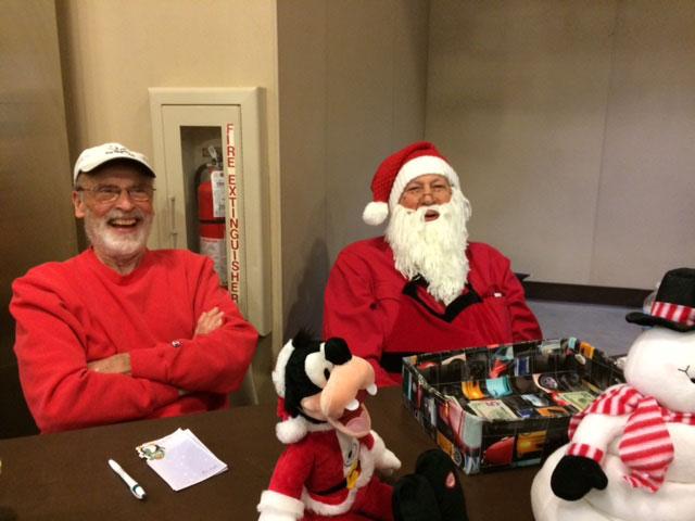 Santa Ierardi and Elf Jackson