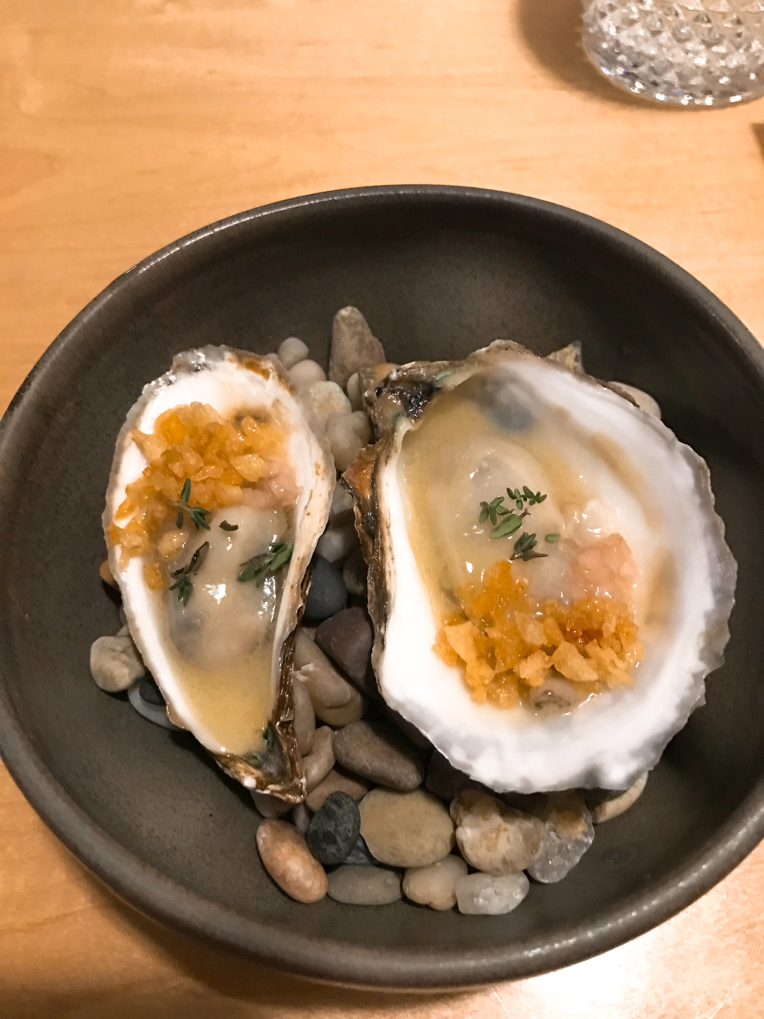 Oysters+Ham