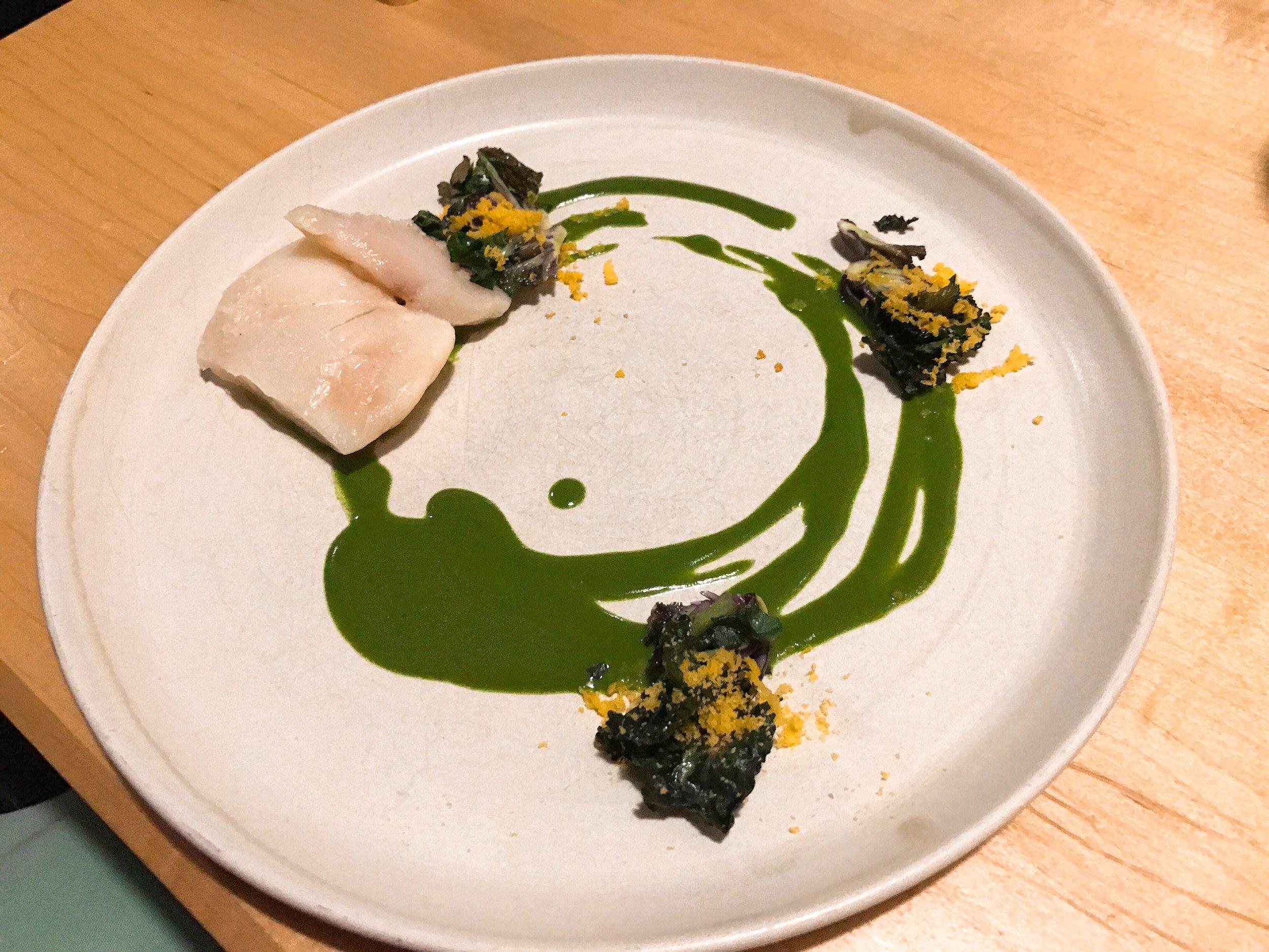 Cod Cheeks+Kale