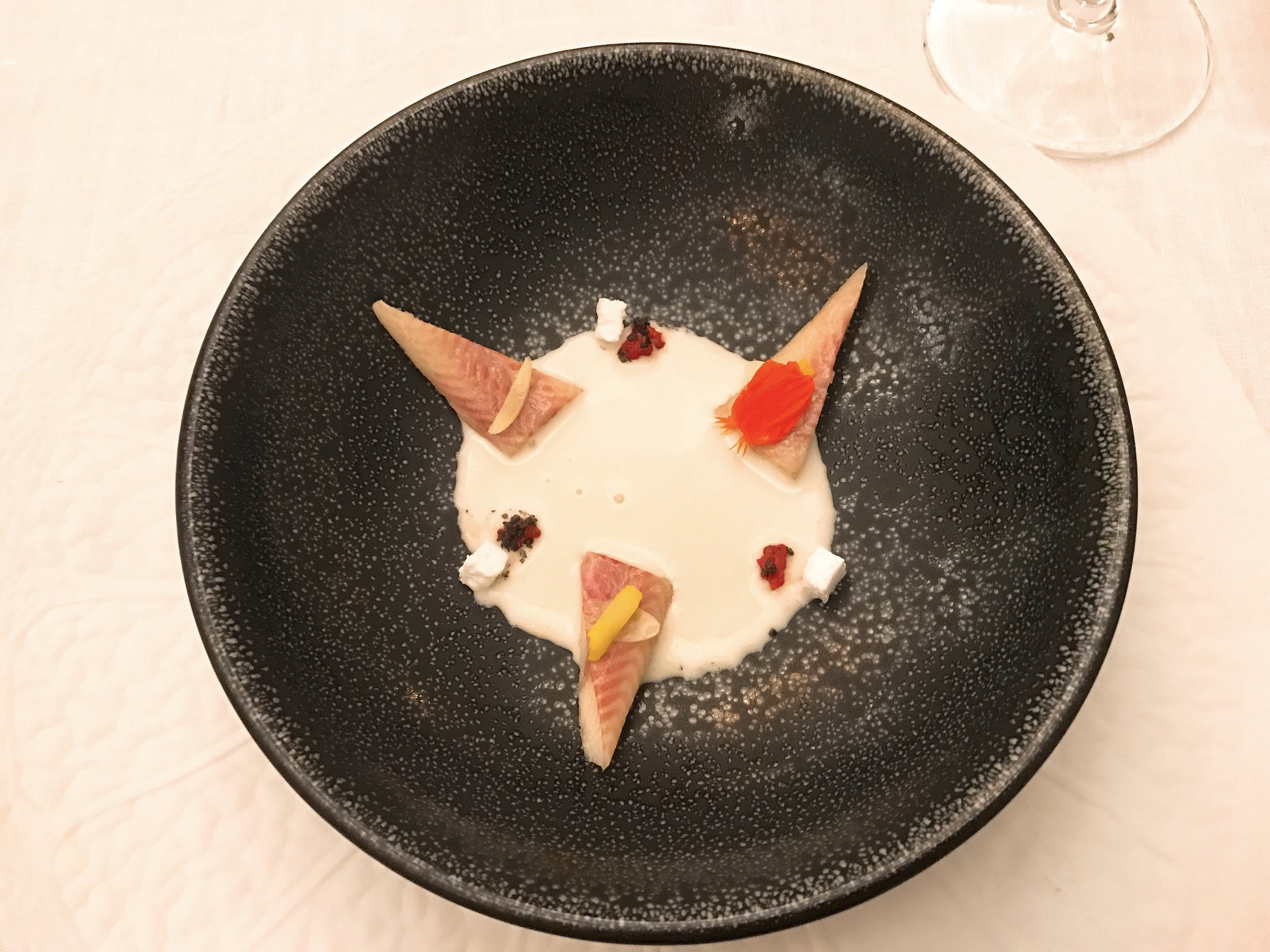Eel with Rocoto and White Coconut after the Coconut Milk was poured