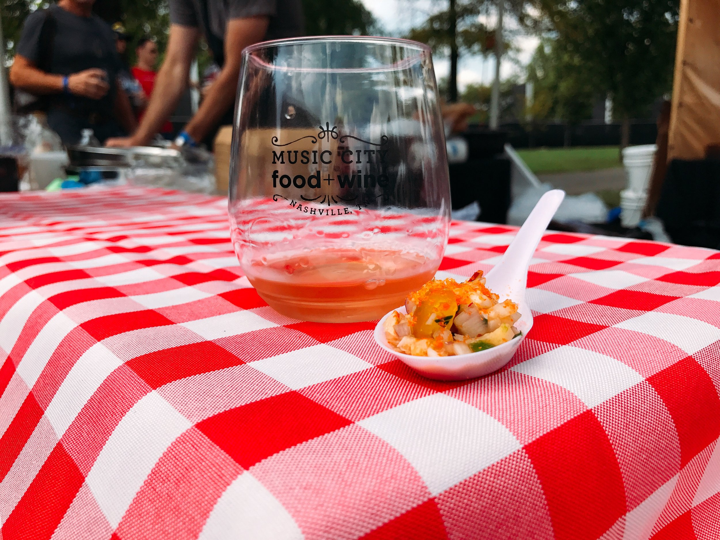 Withers Rosé and Lobster Ceviche courtesy of Homarus