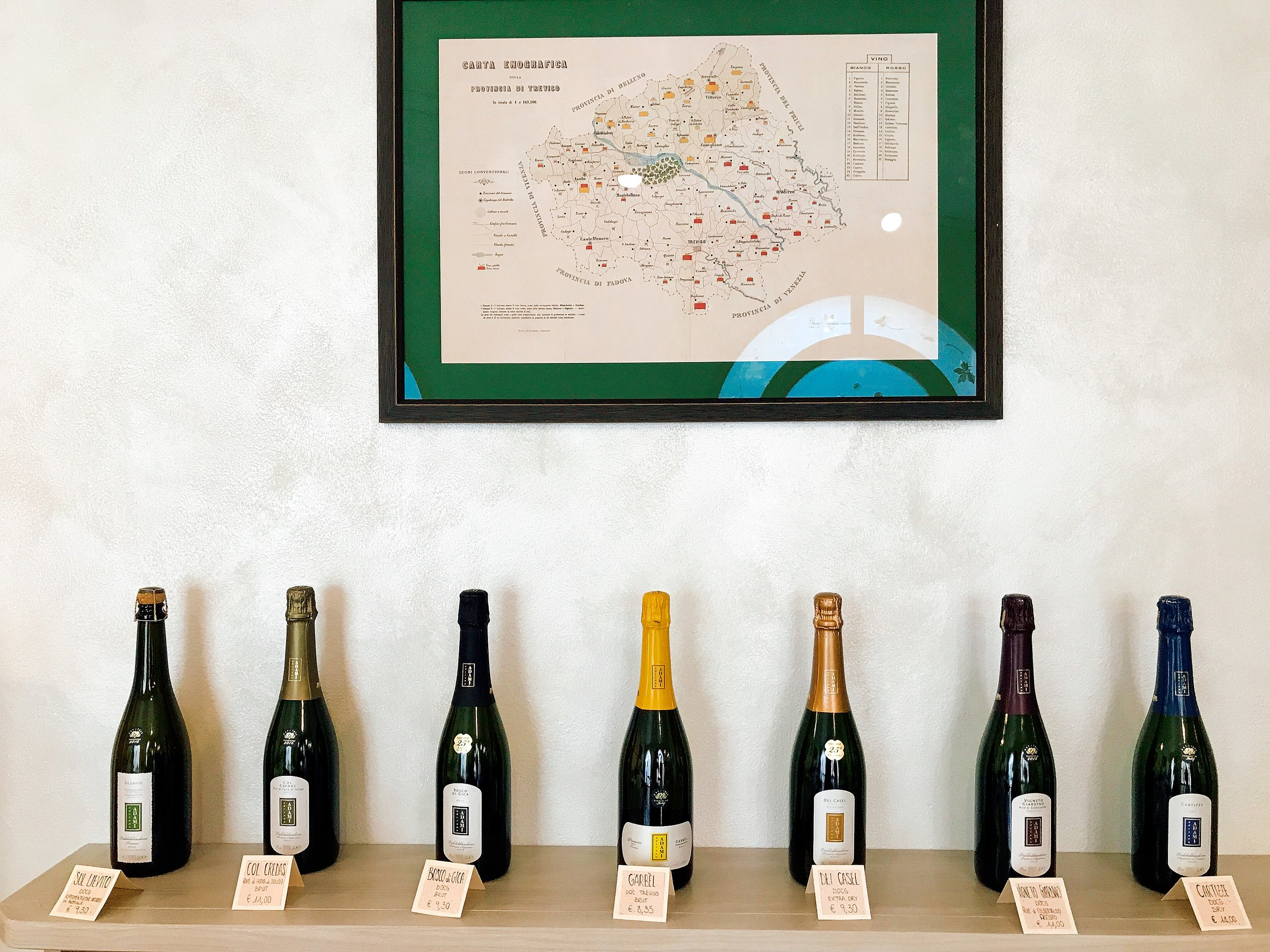 Adami has a variety of bubbly offerings