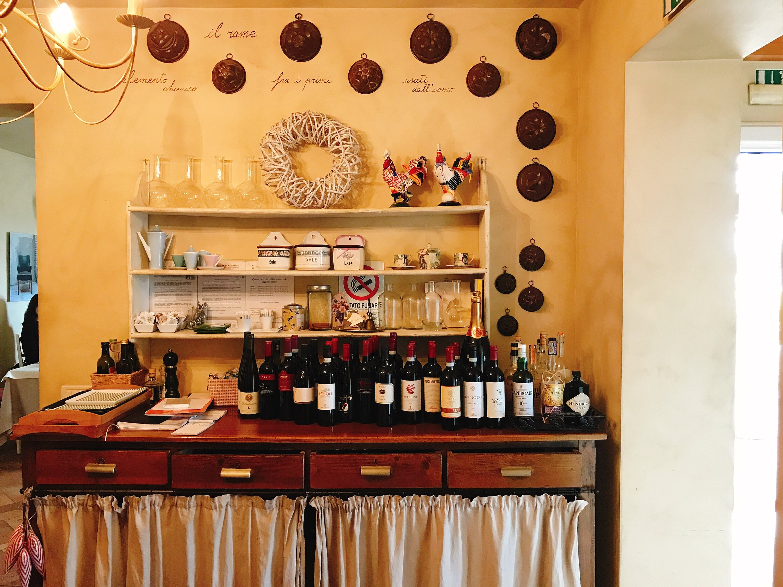 "Locanda Marinelli: The official ""bar"" of the inn"