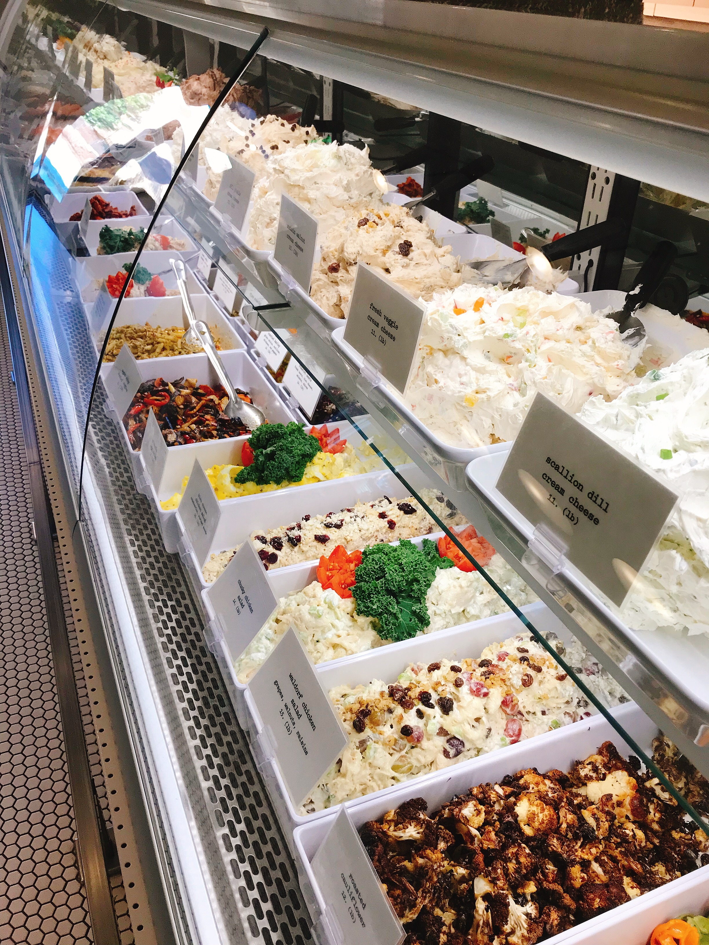 Feel free to sample anything in the case! Those cream cheese flavors are on point!