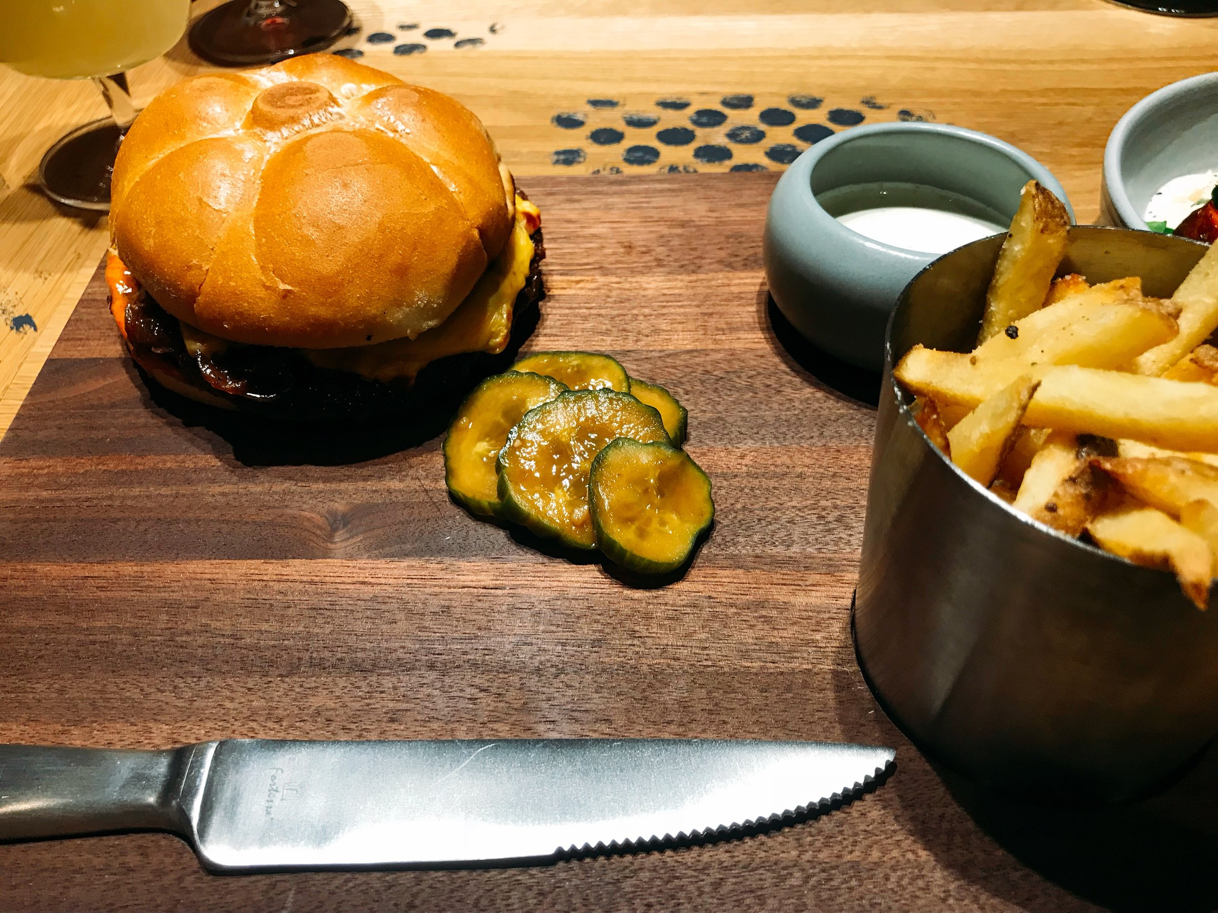 L&L Burger: Caramelized Onion, American Cheese and Burger Sauce