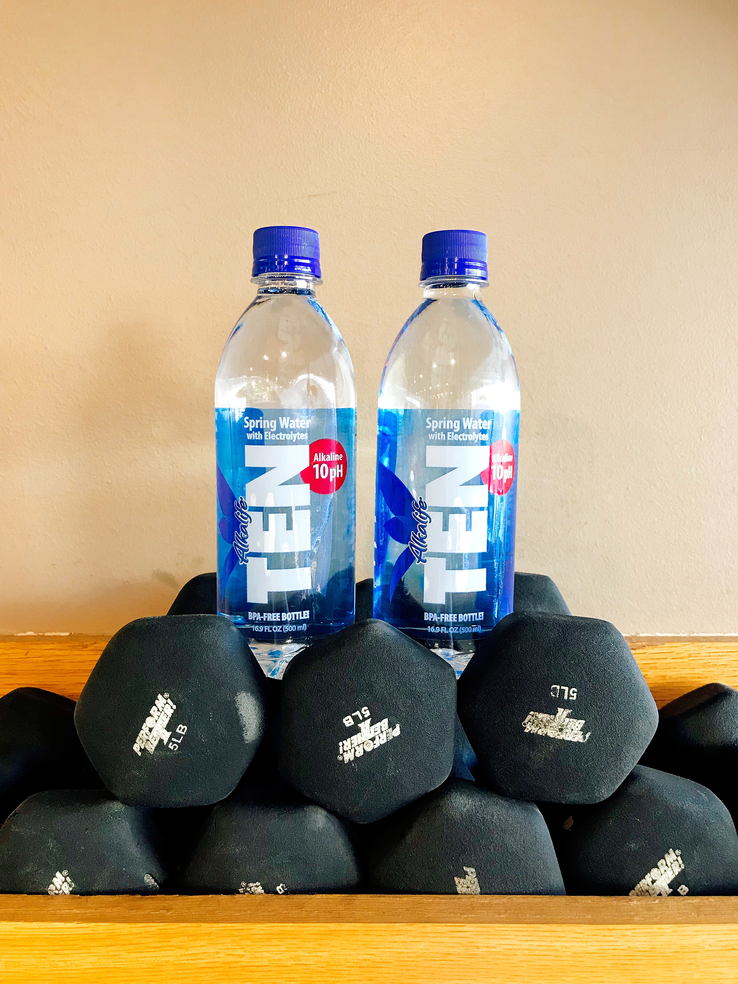 Loading Up on TEN Spring Water Before My Barre Sweat Sesh